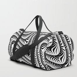 Black and White Serpentine Pattern Duffle Bag