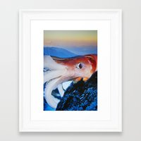 cthulhu Framed Art Prints featuring Cthulhu by John Turck