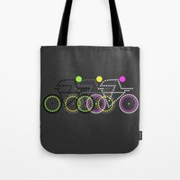 posters Tote Bags featuring Olympic Posters - Cycle  by Samar