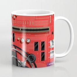 Computer Motherboard Electronics. Coffee Mug