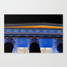 Philadelphia Museum Acropolis / Black Canvas Print