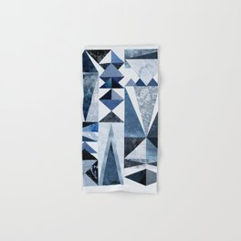 Blue Shapes Hand & Bath Towel
