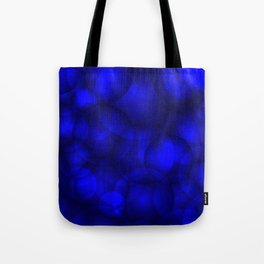 Glowing blue soap circles and volume sea bubbles of air and water. Tote Bag