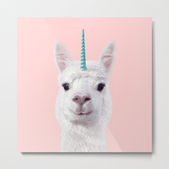 ALPACA UNICORN Metal Print