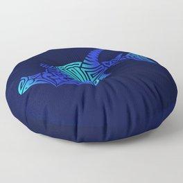 Ombre Blues Hammerhead Floor Pillow