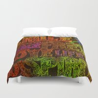 hippie Duvet Covers featuring Hippie by BLOOP