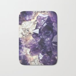 Crystal gemstone - ultra violet Bath Mat