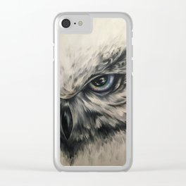 Snow Owl Clear iPhone Case