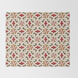 Beautiful oriental flower pattern 5 Throw Blanket