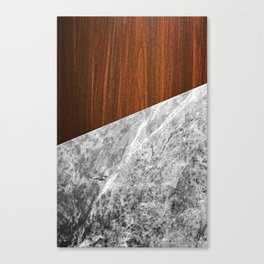 Wooden Marble Canvas Print