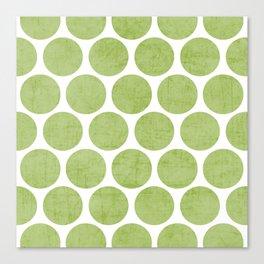 green polka dots Canvas Print