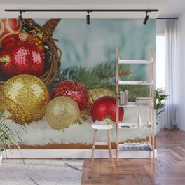 Christmas Ornaments Wall Mural
