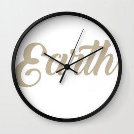 Earth Print Wall Clock