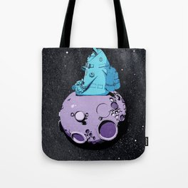 Astronaut on the moon. Tote Bag