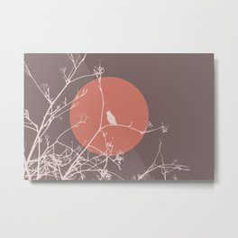 Bird on a branch 2 Metal Print