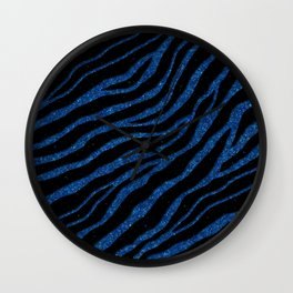 Ripped SpaceTime Stripes - Glitter Blue Wall Clock