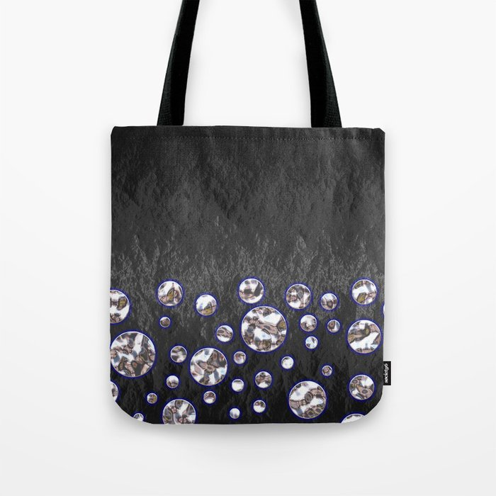 Asteroid Belt of Silver Moons Tote Bag