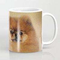 pomeranian Mugs featuring Proud Pomeranian by Jai Johnson