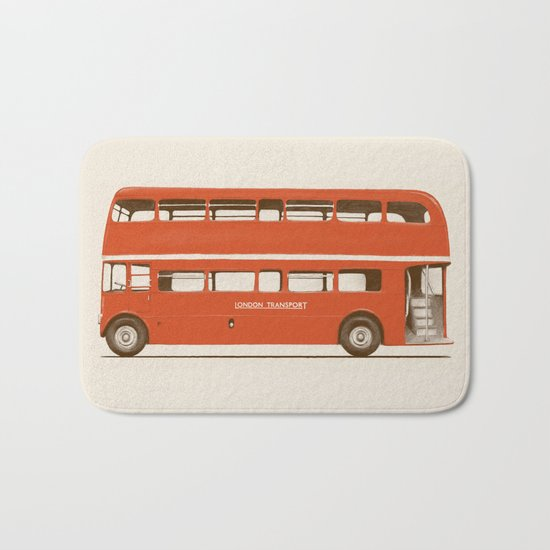 Red London Bus Bath Mat