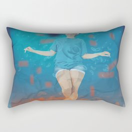 Wave of emotions Rectangular Pillow