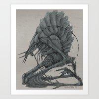 Lithopygidium Art Print