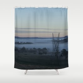 The Land of Fog Shower Curtain