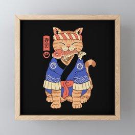 Sushi Meowster Framed Mini Art Print