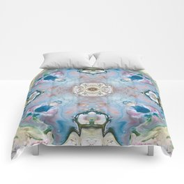 Blue Stone Abstract Design Comforters
