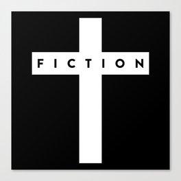 Fiction Cross Dark Canvas Print