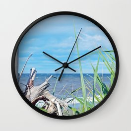 Through Grass and Driftwood Wall Clock