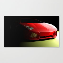 Red sport supercar isolated on black background - 3D rendering illustration Canvas Print