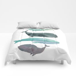 I love whales Comforters