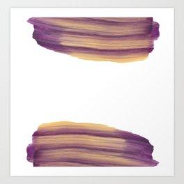 Purple & Yellow Brush Art Print