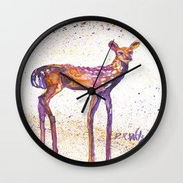 Rising Fawn Wall Clock