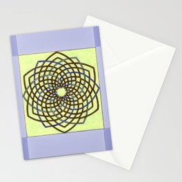 Green and Gold Celtic Knot Stationery Cards
