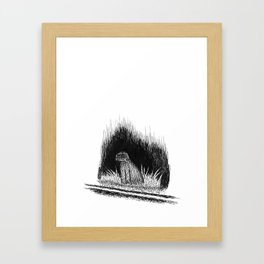 ghost dog Framed Art Print