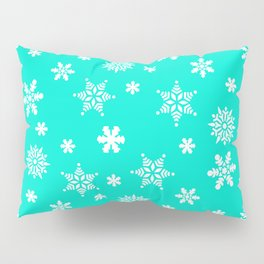 Snow Flurries-Frosty Blue Pillow Sham
