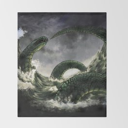 The Midgard Serpent Throw Blanket