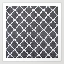Grey style pks Art Print