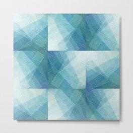 Geo Blue Metal Print