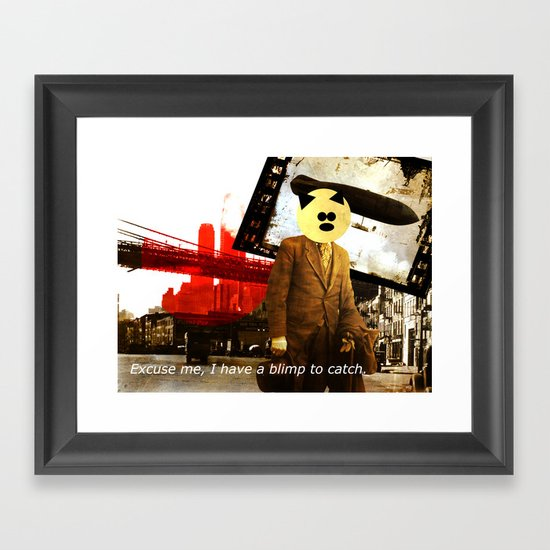 Do you have a Blimp Pass? Framed Art Print