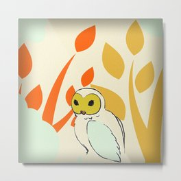 Well, Owl Be Metal Print