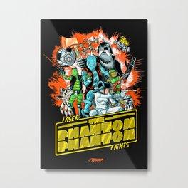 Laser Fights: The Phantom Phantom Metal Print