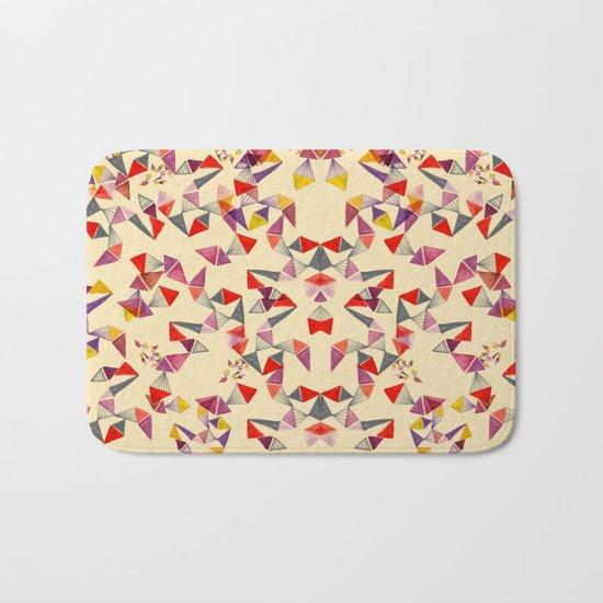 watercolour geometric shapes Bath Mat