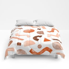 geometric shapes peach Comforters