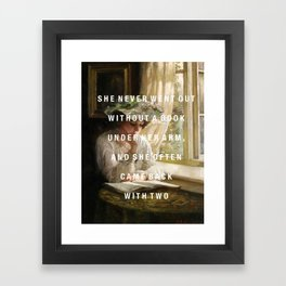 never without a book Framed Art Print