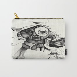The Mad Hatter B&W Carry-All Pouch