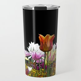 Tulips (black background) Travel Mug