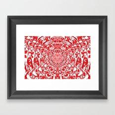 Illusionary Daisy (Red) Framed Art Print