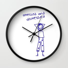 Stressed and Distressed Wall Clock